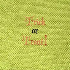 Embroidered Halloween design kitchen towel by LuvHooURDesigns