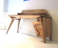 Sculpted Oak Desk