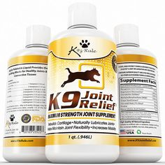 K9 Joint Relief: Glucosamine for Dogs, Liquid Joint Supplement with Chondroitin and MSM, Pain Relief for Arthritis, Hip Dysplasia, Aging, Etc., 32 Ounce *** Read more at the image link. (This is an Amazon affiliate link)