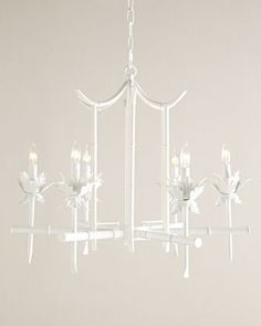 Bamboo-Motif Chandelier at Horchow. Love the Palm Beach feel. Chandelier Pendant Lights, Modern Chandelier, Elegant Chandeliers, Asian Chandeliers, Crystal Chandeliers, Vintage Chandelier, Palm Beach, Ceiling Canopy, Ceiling Lights