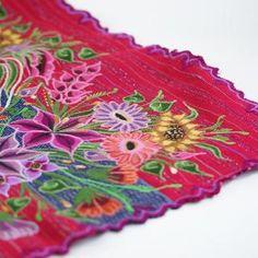 Zinacantán Purple Embroidered Rebozo Shawl - Zinnia Folk Arts Mexican Textiles, Mexican Folk Art, Zinnias, Shawl, Purple, Top, Handmade, Inspiration, Hand Made