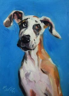 "Saatchi Art Artist Chris Martin; Painting, ""Bullet the dog"" #art"