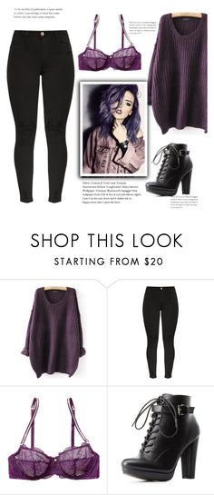 """""""Saia de roxo"""" by thais-santana-1 ❤ liked on Polyvore featuring Blush Lingerie and Charlotte Russe"""