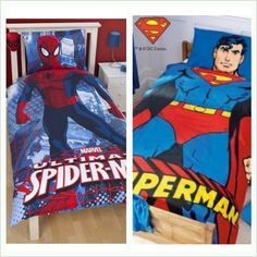 Super hero bedroom for my boys :) Man's Bedroom, Kids Bedroom, Bedroom Ideas, Baby Superhero, Superhero Room, Boys Room Decor, Boy Room, Kid Rooms, Super Heros