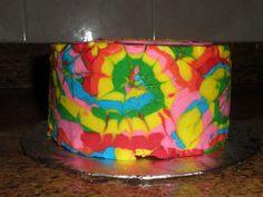 Tie Dye Cake- Looks hard but it's really easy