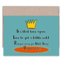 Wild Thing Birthday Card   Funny Birthday Card   Colorful Card   Celebration…