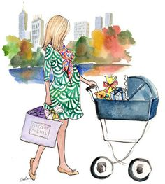 mom to be. illustration by inslee haynes