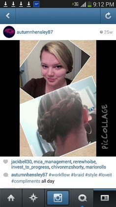 Hair done by me on myself :)