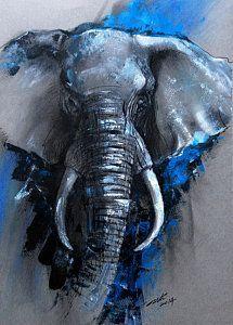 Ausgezeichnet Arti Chauhans Moon River Urfassung - New Ideas Cute Paintings, Art Painting, Pastel Art, River Art, Watercolor Elephant, Lion Art, Animal Paintings, Canvas Art, Elephant Painting
