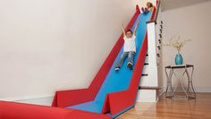 This mat turns your stairs into a slide—so cool!