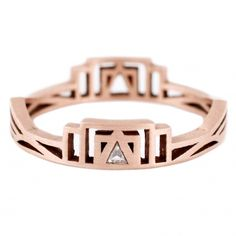 Rose Gold Triangle Diamond Ring // ESQUELETO