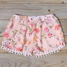 floral boxers with pom pom trim