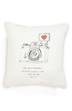 Free shipping and returns on Nordstrom at Home 'Pick Me Up' Pillow at Nordstrom.com. A crisp accent pillow pairs detailed sketchbook art with a brash pick-up line that's just cheesy enough to be charming, lending a subtle touch of modern humor to your home décor.
