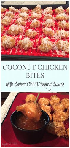 Coconut Chicken bites with Sweet Chili Dipping Sauce