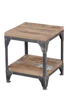 HauteLook | Rustic Steinworld: Carlton Industrial Reclaimed Wood End Table