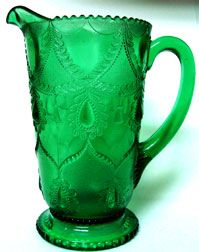 Emerald Green Teardrop and Tumbler: Indiana Tumbler and Goblet Company: Greentown, Indiana