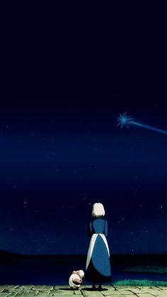 By Studio Ghibli. Hayao Miyazaki, Studio Ghibli Art, Studio Ghibli Movies, Sophie Howl's Moving Castle, Howls Moving Castle Wallpaper, Le Vent Se Leve, Castle In The Sky, My Neighbor Totoro, Animation