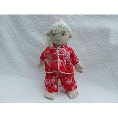 """18"""" Girl Rag Doll In Chinese Oriental Pyjamas"""