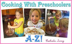 Cooking with preschoolers- Letter of the week alphabet snacks from A-Z