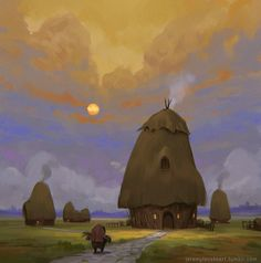 Haystacks -Personal Work by Jeremy Fenske | Fantasy | 2D | CGSociety
