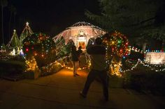 Miller Lights enjoys decorating trees both inside and outside. We love coming up with ideas for the trees, swags and other displays. Sometimes we look at holiday celebrations around the world to get ideas.Most everyone finds huge displays of holiday lights fascinating.  How many lights?  How long did it take them to string it all up?  One of the most notable displays is in Altadena outside the Balian Ice Cream House. Bring your camera! Click on pin to find out about our services.