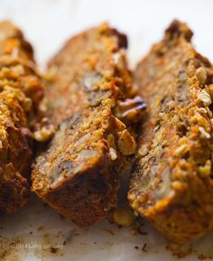 Rustic Carrot-Banana Bread with Walnuts from Healthy Happy Life.