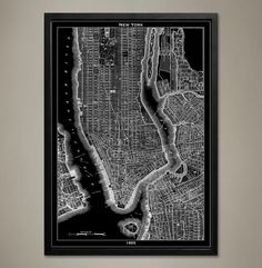Ville de New York  New York City Poster  New York par GeoArtShed