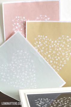 Lemon Jitters: Printable: Love, Hearts, Mushy Stuff