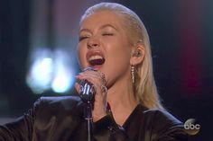 Christina Aguilera AMAs performanceCredit: ABC