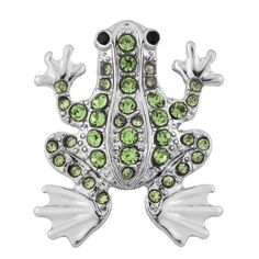 118MM Green Frog Animal Rhinestone Silver Candy Snap Charm . Is rather lost on the bracelet. purchased