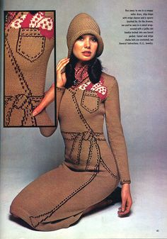 Mr.Mort almost out-trompes Roberta di Camerino with these fantastic trompe l'oeil sweaters from 1975.    from an old American Home Crafts magazine, which are all worth picking up if you ever come across them.