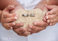 This is a fun ring shot idea for a beach wedding. I took this photograph on Culebra Island in Puerto Rico during Lyndsay and Marshalls wedding. #wedding #PuertoRico #photographer #photography #rings #sand #beach #rinconimages www.rinconimages.com Wedding photographer Culebra Island Puerto Rico