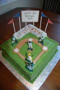 Baseball Diamond Cake | Cake idea for Caleb's bday