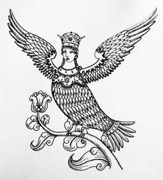 Islamic Art Pattern, Pattern Art, Ceramic Tile Art, Persian Pattern, Fantasy Monster, Folk Fashion, Sirens, Mythical Creatures, Face Art
