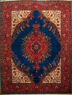 "Tabriz Persian Rug, Buy Handmade Tabriz Persian Rug 9' 7"" x 12' 8"", Authentic Persian Rug"