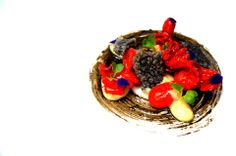 BABY OCTOPUS | chorizo | miso-squid ink | garlic | ink cracker