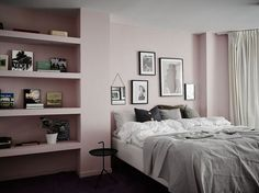 Pink painted wall
