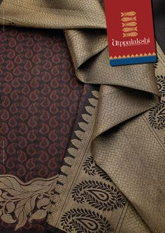 Love at first sight! Bountifully brown encrusted with golden pallu - needless to say the saree's a stunner. Leaf motifs provide a consistent pretty pattern all through.#Utppalakshi #Sareeoftheday#Silksaree#Kancheevaramsilksaree#Kanchipuramsilks #Ethinc#Indian #traditional #dress#wedding #silk #saree#craftsmanship #weaving#Chennai #boutique #vibrant#exquisit #pure #weddingsaree#sareedesign #colorful #elite