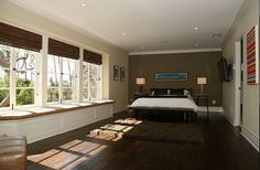 2011 Jeff Lewis Designs Valley Oak Bedroom with Olive accent wall