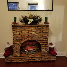 Outdoor Fireplace Grill Safety Tips – Fireplace Tip[s & Tricks Christmas Vases, Gold Christmas Decorations, Christmas Fireplace, Black Christmas, Christmas Gift Wrapping, Christmas 2019, Christmas Crafts, Holiday Decor, Fireplace Remodel