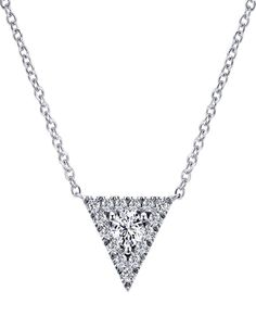Looking for the most simplest but most gorgeous diamond necklace? Check out this stunning 14k White Gold Diamond Necklace from Gabriel & Co. Discover your perfect and daring pieces with Gabriel & Co. at our website www.gabrielny.com