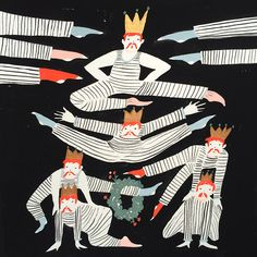 Eleven lords a leaping (12 days of christmas)  by Emily Isabella is an illustrator, textile designer and art director.