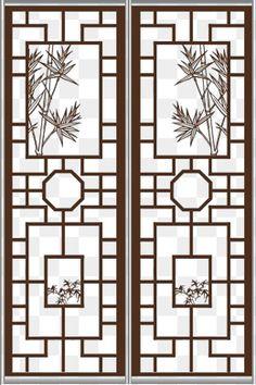 Screen Design, Door Design, Steel Furniture, Furniture Decor, Slidding Door, Chinese Door, 3d Templates, Japanese Interior Design, Chinese Patterns
