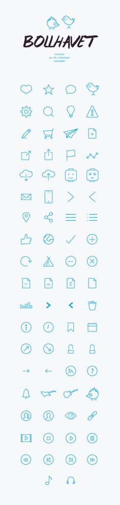 Bollhavet Free Flat Icon Set