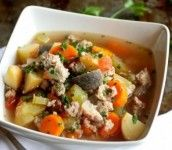 Hearty, healthy and satisfying, this slow cooker turkey soup gets an extra dose…