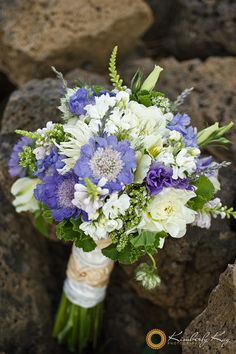 Summer bouquet of scabiosa, spider mums, lisianthus, roses and veronica....love!