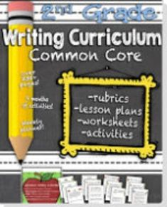 Common Core Writing Curriculum.  How would you love to NEVER plan a day of writing again?!  This bundle includes lesson plans for every day of the school year (December is a little different because I know most people already have holiday themes/plans) from September to May.