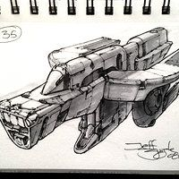 """TS-111 """"Crossbow"""" defense escort. Perspective's a little off around the cockpit area, oh well."""