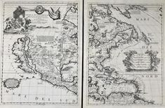 Relief shown pictorially. Shows California as an island. Appears in the author's Atlante veneto, Includes notes and illustrations. Available also through the Library of Congress Web site as a raster image. LC copy folded, with hinges for binding. Vintage Maps, Antique Maps, Antique Prints, Rare Antique, North America Map, United States Map, Maputo, Atlanta, The Unit