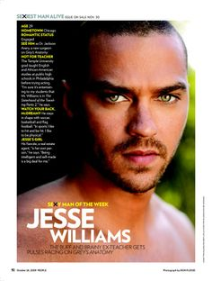 African American Actors Over 30 | Sexy Man of the Week Jesse Williams - Jesse Williams : People.com